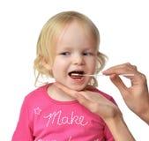 Spécimen biologique témoin médical de Salvia de l'enfant MOIS de bébé d'enfant Photo libre de droits