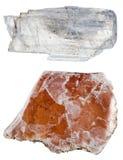 Spécimens de mica de muscovite Photographie stock libre de droits