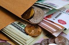 Spéculation d'urrency de  du dollar Ñ de rouble Image libre de droits