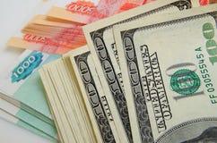 spéculation d'urrency de  du Rouble-dollar Ñ Image stock