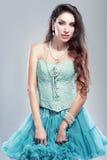 spódnicowa błękit kobieta Zdjęcie Royalty Free