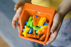 spójrz na moje zabawki Fotografia Stock