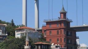 Spökad herrgårdYusuf Ziya Pasha herrgård, Istanbul kanal, Turkiet royaltyfria bilder