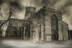 spökad kyrka Royaltyfria Bilder