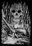 Spökad sten Art Illustration vektor illustrationer