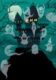 Spökade slottar Arkivfoto