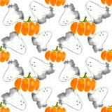 Spökar och pumpor Vektor Illustrationer