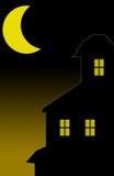 spökat hus stock illustrationer