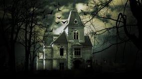 spökat hus fotografering för bildbyråer