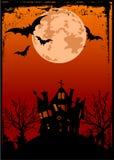 spökat hus för bakgrund halloween stock illustrationer