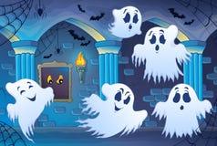 Spökat inre tema 4 för slott Arkivfoton
