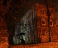 spökat slott royaltyfri foto