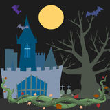 spökat slott Arkivbild