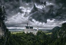 spökat slott royaltyfri bild