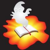Spöke av böcker för allhelgonaafton Royaltyfria Foton