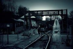 Spöke för drevstation fotografering för bildbyråer