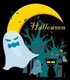 spöke halloween vektor illustrationer
