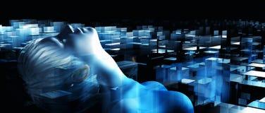 Spöke i bearbeta med maskin Arkivbild