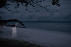 Spöke i havet, mystisk kvinna Royaltyfri Bild
