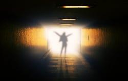 Spöke i tunnel Arkivfoto