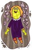 Spöke med en grön framsida Royaltyfria Foton