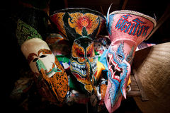 SpökemaskeringsThailand festival royaltyfri bild