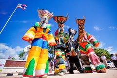 SpökemaskeringsThailand festival Arkivfoto