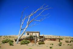 Spökestaden i Kolmanskop Fotografering för Bildbyråer