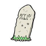 spöklik grav för komisk tecknad film Arkivfoton