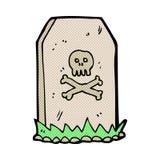 spöklik grav för komisk tecknad film Royaltyfri Bild