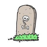 spöklik grav för komisk tecknad film Arkivfoto