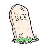 spöklik grav för komisk tecknad film royaltyfri illustrationer