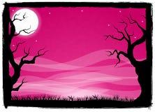 Spöklik halloween bakgrund Arkivfoton
