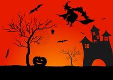 Spöklik halloween bakgrund Royaltyfria Foton