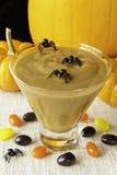 spöklik halloween pudding Arkivbilder