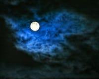 spöklik moon Royaltyfri Fotografi