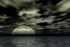 spöklik natt stock illustrationer