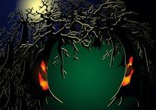 spöklik skog royaltyfri illustrationer
