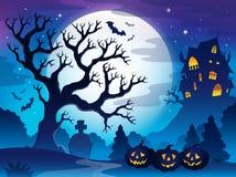 Spöklik trädtemabild 3 Arkivbild