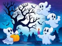 Spöklik trädtemabild 4 Arkivbilder