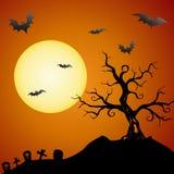 spöklik tree för bakgrund vektor illustrationer