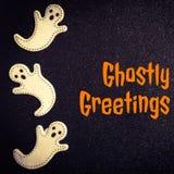 Spöklika hälsningar royaltyfria foton