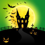 spöklikt halloween hus vektor illustrationer