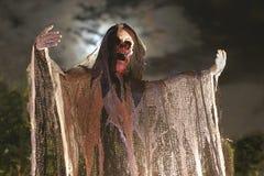 spöklikt halloween skelett royaltyfria bilder