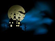 spöklikt hus vektor illustrationer