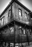 Spöklikt hus i Sozopol, Bulgarien Royaltyfri Bild
