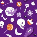 Spöklikt läskigt för sömlös modellhalloween vektor Royaltyfri Illustrationer