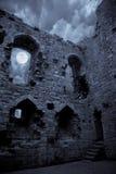 spöklikt slott Royaltyfri Bild