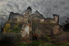 Spöklikt slott Arkivfoto