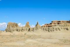 Spökstad av världen på Xinjiang Royaltyfri Foto
